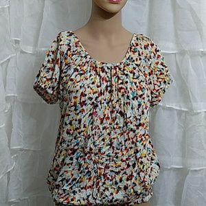 DAISY FUENTES Short Sleeve T-Shirt Blouse